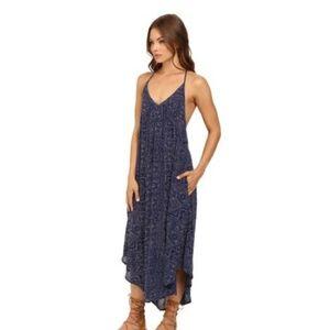 Roxy Dresses - Roxy Boho Stlye Blue Kat Fish Midi Dress Size XS